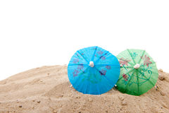 Parasol at the beach Royalty Free Stock Photography