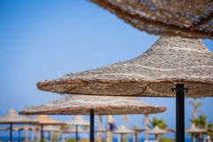 Parasol on the beach Royalty Free Stock Images