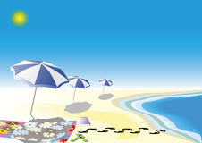 Parasol in blue Royalty Free Stock Image