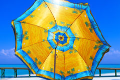 Parasol. Colorful parasol on the beach Royalty Free Stock Photos