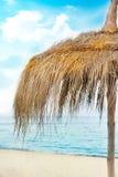Parasol da palha fotografia de stock