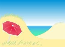 Parasol das dunas Imagem de Stock Royalty Free