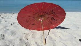Parasol de bambú Imágenes de archivo libres de regalías