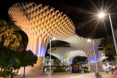 Parasol de Metropol la nuit, Séville, Espagne Image stock