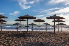Parasol de plage Photographie stock