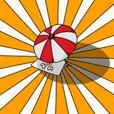 Parasol de playa Imagen de archivo libre de regalías