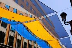 Parasol de rue au centre de Madrid photo libre de droits
