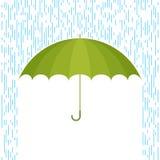 Parasol F i deszcz ilustracja wektor