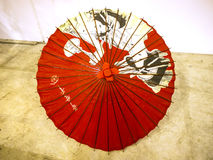 Parasol at the Festival of the Orient in Rome Italy. The Festival of the Orient was held at the Exhibition Centre near Rome Airport at Fumincino on the outskirts Royalty Free Stock Photo
