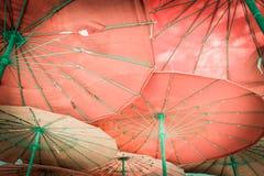 Parasol i jesteśmy plażowi Obraz Royalty Free