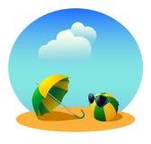 Parasol i piłka Fotografia Royalty Free
