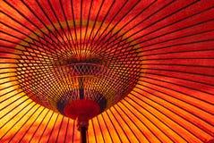 Parasol japonés rojo Fotos de archivo
