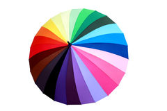 Parasol multicolore Photographie stock libre de droits