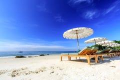 Parasol na plaży. fotografia royalty free