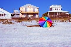 Parasol na plaży Fotografia Royalty Free