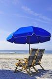 Parasol na praia Foto de Stock