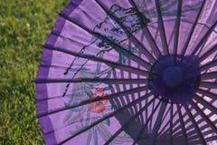 Parasol púrpura Foto de archivo libre de regalías