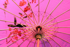 Parasol. Pink parasol up close with a pattern royalty free stock photo