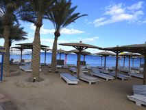 Parasol plaża zdjęcie royalty free