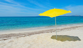 Parasol by the sea Royalty Free Stock Image