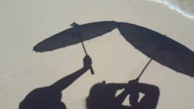 Parasol shadows Royalty Free Stock Photo