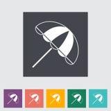 Parasol. Single flat icon Vector illustration vector illustration