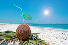 Parasol and straw Stock Photography