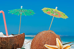 Parasol and straw Stock Image