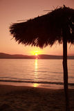 Parasol sunset, Skiathos Stock Photos