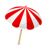 Parasol. Vector illustration of red and white parasol Royalty Free Stock Images