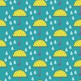 Parasol vs deszcz Obraz Stock