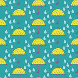 Parasol vs deszcz ilustracji
