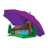 parasol w domu Obraz Stock