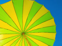 Parasol yellow green Stock Photography