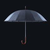 Parasol z dżdżystymi kroplami odizolowywać na ciemnym pracownianym tle royalty ilustracja