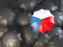 Parasol z flaga republika czech royalty ilustracja