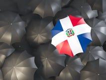 Parasol z flaga republika dominikańska ilustracji