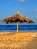 Parasolar umbrella at the seaside Stock Image