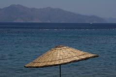 Parasole dell'ombrello di spiaggia Fotografia Stock