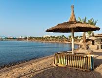 Parasole della spiaggia Fotografia Stock