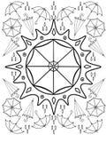 Parasole, deszcz, słońce Jesień Rysować dla barwić stres Kolorystyki książka dla dorosłych i starych dzieci ilustracji