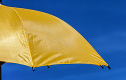 Parasole giallo Fotografia Stock