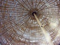 Parasole Handmade della spiaggia Fotografie Stock Libere da Diritti