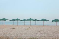 Parasole na plaży Obraz Royalty Free