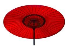 Parasole orientale rosso Immagine Stock