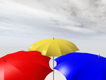 parasoles Imagenes de archivo