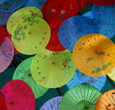 Parasoles chinos Foto de archivo libre de regalías