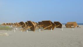Parasoles de la playa Foto de archivo
