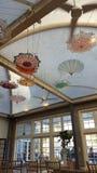 Parasoles del techo fotografía de archivo