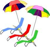 Parasoli illustrazione vettoriale